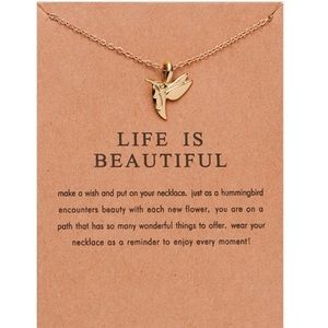 Jewelry - 4 for $20 life  is beautiful gold dainty necklace